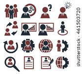 businessman icon set | Shutterstock .eps vector #461503720