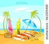 sunset beach summer holiday... | Shutterstock .eps vector #461505400