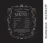 menu restaurant blackboard hand ... | Shutterstock .eps vector #461506159