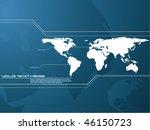 vector map background | Shutterstock .eps vector #46150723