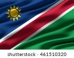 close up of ruffled flag of... | Shutterstock . vector #461510320