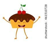 sweet bakery character cute... | Shutterstock .eps vector #461510728