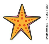 starfish sea cute icon vector... | Shutterstock .eps vector #461514100