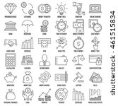 modern thin line icons set of... | Shutterstock .eps vector #461515834