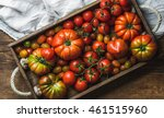 Colorful Tomatoes Of Different...