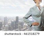 confident business woman .... | Shutterstock . vector #461518279