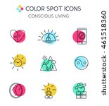 trendy line icons set of... | Shutterstock .eps vector #461518360