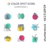 superfoods line vector icons.... | Shutterstock .eps vector #461518939