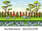 seamless nature cartoon... | Shutterstock .eps vector #461522158