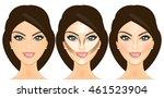 vector illustration face before ... | Shutterstock .eps vector #461523904