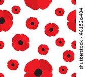 red poppy seamless pattern.... | Shutterstock .eps vector #461526484