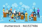 business people crowd workplace ... | Shutterstock .eps vector #461527486