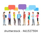 casual people group chat bubble ... | Shutterstock .eps vector #461527504