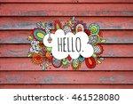 hello hand drawn illustration...   Shutterstock . vector #461528080