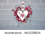 colorful love heart doodle...   Shutterstock . vector #461528824