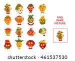 cartoon of finding the same... | Shutterstock . vector #461537530