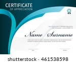vector template for certificate ... | Shutterstock .eps vector #461538598