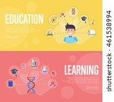 education vector infographics... | Shutterstock .eps vector #461538994