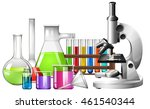 science equipment with... | Shutterstock .eps vector #461540344
