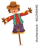 scarecrow on wooden stick...