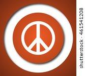 peace icon. internet button on... | Shutterstock . vector #461541208