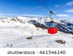 Ski Slope In Swiss Alps In...