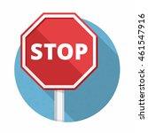 stop sign  flat design  vector...   Shutterstock .eps vector #461547916