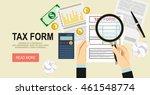 tax calculation  budget...   Shutterstock .eps vector #461548774