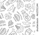 seamless pattern. calcium food. ... | Shutterstock .eps vector #461551144