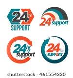 24hr 7day support set. vector... | Shutterstock .eps vector #461554330