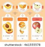 vector fruit cosmetic banner... | Shutterstock .eps vector #461555578