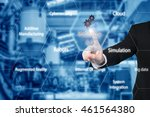 business man touching industry... | Shutterstock . vector #461564380
