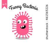 bacteria with facial...   Shutterstock .eps vector #461565226