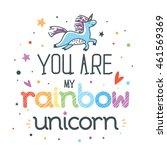 motivational childish poster... | Shutterstock .eps vector #461569369