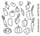 vegetables line art. isolated ... | Shutterstock . vector #461576218