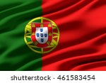 close up of ruffled flag of... | Shutterstock . vector #461583454