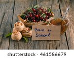 cherries and cherry turnover... | Shutterstock . vector #461586679