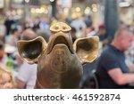 Golden Pig Statue Detail Insid...
