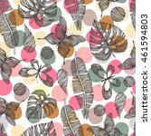 seamless pattern with hand... | Shutterstock .eps vector #461594803