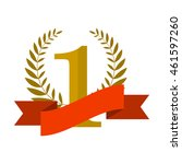 number one with ribbon and...   Shutterstock . vector #461597260
