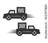 fast delivery truck   Shutterstock .eps vector #461597884