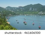 cable car in ocean park in hong ... | Shutterstock . vector #461606500