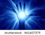 3d illustration of human hand... | Shutterstock . vector #461607379
