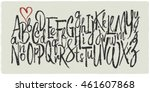 Hand Drawn Vector Alphabet....