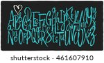 hand drawn vector alphabet.... | Shutterstock .eps vector #461607910