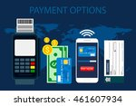payment options. concept in... | Shutterstock .eps vector #461607934