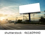 billboard blank for outdoor... | Shutterstock . vector #461609440