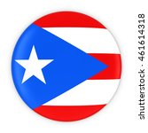 puerto rican flag button   flag ... | Shutterstock . vector #461614318