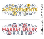 achievements and market entry... | Shutterstock .eps vector #461614540