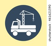 web icon of crane truck. | Shutterstock .eps vector #461621590